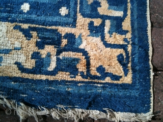 Very pretty late 18th/early 19th century Ning Xia rug. Nice condition for age.