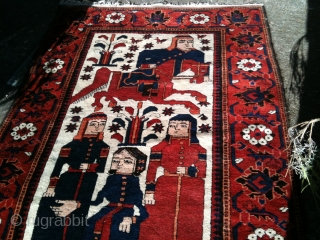 Very unusual design. Early 20th century Baluch rug. In perfect pile. The rug speaks for itself.