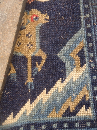 "Beautiful Small Chinese Rug with deer and swan,good colors and nice design.Size 3'5""*1'5"".E.mail for more info and pics."