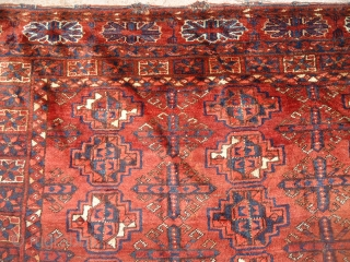 "Large Chuval with great natural colors and beautiful design.soft shiny wool.Size 4'11""*2'11"".E.mail for more info and pics.E.mail for more info and pics."
