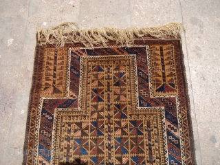 "Baluch Prayer Rug with both sides kilim endings very good condition without any work done.Good colors and design.Size 4'2""*2'8"".E.mail for more info and pics."