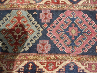 Shahsavan Soumac,with good colors and age,very fine weave.100% wool on wool,As found.E.mail for more info.