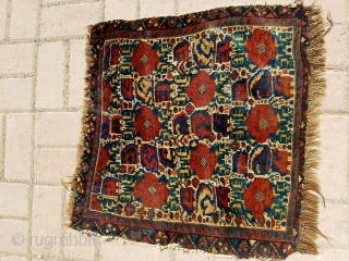 "Colorful Qashqai bagface with all natural colors and good age,nice design, Size 1'11""*1'10.E.mail for more info and pics."