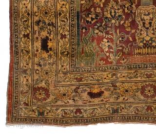 AntiquePersian Heriz/Tabriz wool,  Size 6x4 ft