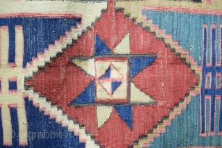 Antique Star Kilim size 9 x 6 Ft