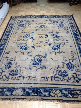 Chinese Circa 18th hundred. This rug was sold to a client of mine by a well known dealer about 15 years ago. The dealer identified this rug to be Chinese and woven  ...