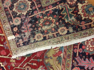 """Great colors Heriz. SIZE: 10' X 12'-5"""". Please contact me directly by Phone 617-484-3363 or email: kia@artofpersianrugs.com"""