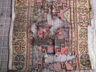 """Antique rug fragment from konya region(central anatolia) middle or late 19th century. Size: 157cm x 95cm - 5ft.1,8"""" x 3ft.1,4"""". l am not good to calculate ft and inches, l hope l did  ..."""