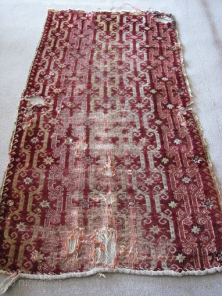 It is from MUCUR - KIRSEHIR rug fragment (central anatolia) 19th century. Size: 173cm x 102cm - 5.67ft x 3.34tf,  wool on wool. To visit my other collections, https://www.etsy.com/your/shops/KILIMSE