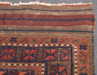 Antique North West Afghan main carpet. 