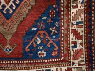 ANTIQUE TURKISH KARS KAZAK RUG, GRAPHIC DESIGN, CIRCA 1900