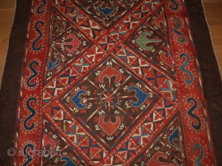 Antique Uzbek embroidered felt, size: 345 x 126cm. D-160.