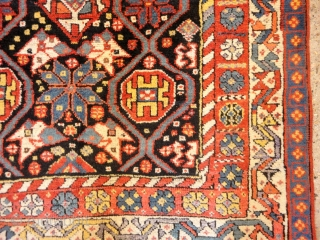 Excellent Persian Lori rug, full pile with superb colour. Size: 172 x 103cm.