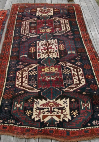 (70) Kagizman Kurd, 130 x 267 cm.,  Eastern Anatolian village rug with a hefty handle and full pile of soft, lanolin-rich wool. It is in excellent condition with some minor repairs.  -Kolya
