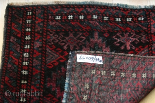 {88} Beludj bag face, 60 x 57 cm.,  vivid, great dyes including aubergine. blue warp. excellent condition.  -Kolya
