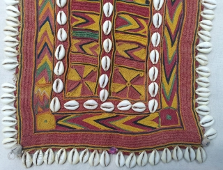 Rare Ceremonial Banjara Gala From Karnataka,South India. India.Embroidered on cotton. Gala is traditionally used by women to carry pots on their heads.C.1900.Its size is 25cmX30cm(20200202_150415).