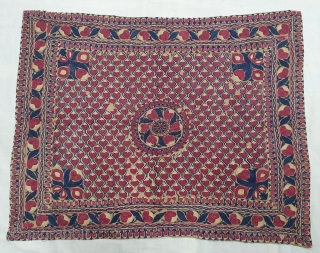 Ceremonial Textile for the Haj People from Bengal. India.Bought by South East Asian People when they went for Haj.This are also Bought in Aden,Mecca or sea ports on the way to Mecca.Silk  ...