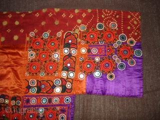 Embroidered Blouse-Front(Gaj)From Nindo Shehr,Sindh Provision of Pakistan. India.silk lined with cotton,silk embroidery with mirrors(DSC04148 New).