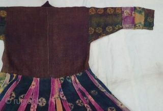 Thigma Tie and Dye Costume (Coat) of Zanskar women's from Ladakh. India. It's Pure Indigo Blue colour and other natural colours has been used. Made from yaks Wool. C.1900.This Type of Tie  ...
