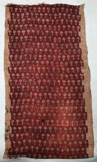 Early Block Print Yardage,(Natural Dyes on cotton) From Bagru, Rajasthan. India.C.1900. Its size is 41cmX305cm (20200215_141518).