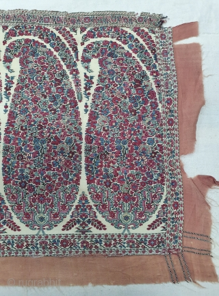 Palledar Fragment of Kani Jamawar, From Kashmir, India. C.1820-1840. Its Size is 39cmx140cm (20200215_143505).
