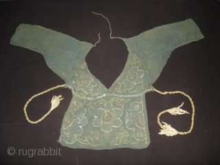 Embroidery Choli(Child)From Chamba Region of Himachal Pradesh India.Circa 1900(DSC00119 New).