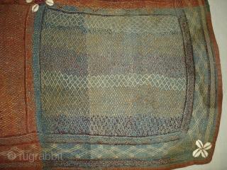 Ceremonial Banjara Baby Jolna From Madhiya Pradesh.India.Known As Jolna. Finely quilted Banjara Jolna. C.1900. Its Size is 76cmX76cm(DSC04684 New).