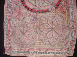 Kantha Quilted and embroidered cotton kantha Probably From East Bengal(Bangladesh) region, India.C.1900.Its size is 60cmX84cm. Very Good Condition(DSC04452 New).