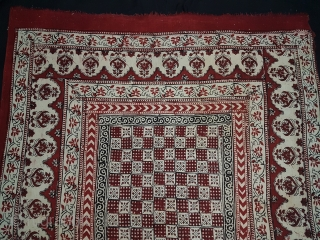 Saudagiri Trade Textiles of Gujarat, Block Printed On Cotton Khadi From Kutch Gujarat, India.C.1900.Its size is 133cmx210cm(165333).