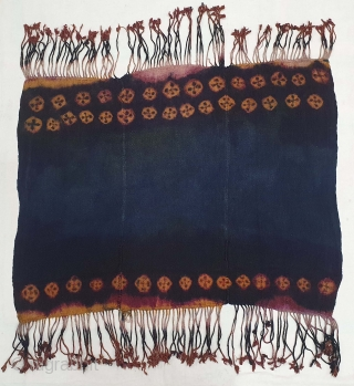 Thigma Tie and Dye,Zanskar Bokh Shawl From Tribal Area of Zanskar Ladakh India. It's Pure Indigo Blue colour has been used and made by yaks Wool. Worn by women.This Type of Tie  ...