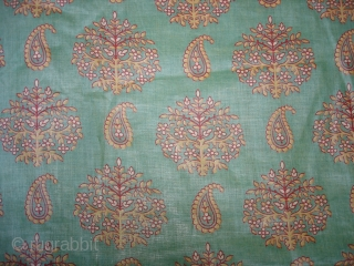 Roller Print Yardage From Kutch Gujarat.It is made in Manchester,England For Indian Market.Its size is 58cmX1440cm(DSC02615 New).