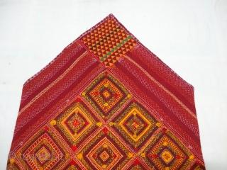 Banjara Dowry Bag (cotton),Very Famous Mathura Embroidery from Jabalpur Region of Madhya Pradesh, India.C.1900.Its size is 69cmX100cm(DSC04951).