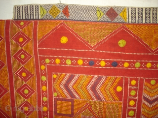 Odhani Bishnoi Shawl From Shekhawati District of Rajasthan, India. Odhani Look Like Tie and Dye,But Embroidered one by one on the cotton Khadder (Village Khadi)cloth with natural colours,In the Villages of Shekhawati  ...
