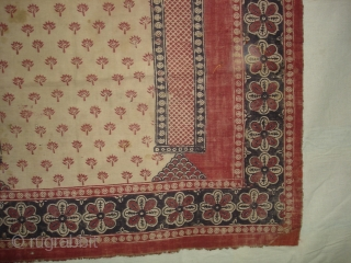 Prayer Arch Kalimkari From Kutch Gujarat.India.Khadi Cotton cloth. 19th Century.Its size is 80cm X130cm.(DSC01650 New)