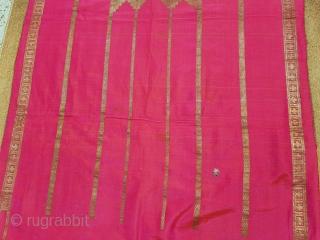 Jai Namaz Mat,Zari(Real)weaving on the silk,From Gujarat India.C.1900.Made For Vohra Muslims Community.Its size is 63cmX94cm(135155).