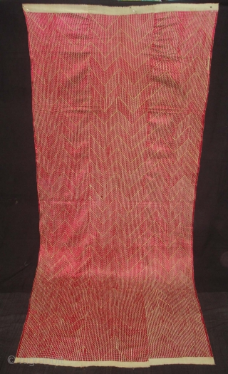 Phulkari From West(Pakistan)Punjab. India.Known As Chawal Buti Thirma Bagh.Very Rare influence of Lahariya Design Chawal Buti Thirma Bagh(DSC03994 New).