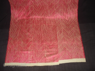 Phulkari From West(Pakistan)Punjab. India.Known As Chawal Buti Thirma Bagh.Very Rare influence of Lahariya Design Chawal Buti Thirma Bagh(DSC03994 New).
