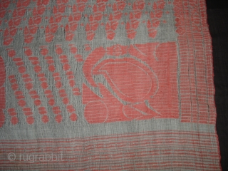 Jamdani Finest Muslin Cotton Sari, From Dhaka District of Bangladesh.North-East India. Jamdani was originally known as Dhakai named after the city of Dhaka, Jamdani is Persian deriving name from 'Jam', meaning flower,  ...