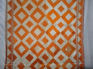 Phulkari From West(Pakistan)Punjab.India.known As Shisha(Mirror)Design Bagh.C.1900. Very Rare influence of Design Change in the left corner(DSC03042 New).