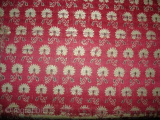 Sutra Book Cover,Tanchoya Mashru Silk showing the flower design,Belong to Jain community of Kutch Gujarat. India.Circa 1900.Its size is 15cmx31cm(DSC02417 New).
