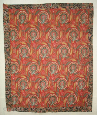Manchester Print Pichwai Of Morakuti(Dancing Peacock)From Manchester England made for Indian Market.Roller Printed on Cotton.its size is 70cmX84cm(DSC04227 New).