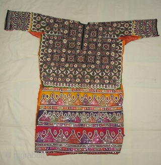 Woman's Tunic (Chola or Gajj),From Thano Bula Khan , Sindh Region Of Pakistan. India. This were traditionally used mainly by Burfati Group of Thano Bula Khan, Dadu. Sindh Region.Silk Embroidered With Silk,  ...