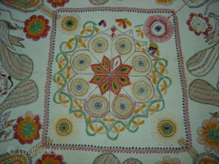 Kantha Quilted and embroidered cotton Kantha Probably From Faridpur District,East Bengal(Bangladesh)region. India.C.1900.Its size is 87cmX89cm(DSC05921 New).