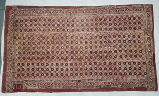 Saudagiri Double-Sided Block Print Quilt,Very Famous Saudagiri Trade Textiles of Gujarat, Block Printed On Cotton Khadi From Kutch Gujarat, India.C.1900.Its size is 132cmX235cm(104244).