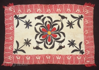 Kantha Quilted and embroidered cotton Kantha Probably From Jessore District of East Bengal(Bangladesh)region.India.C.1900.Its size is  45mX66cm(DSC06276 New).