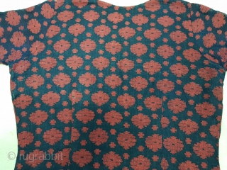 Dhakai Jamdani Blouse Indigo blue Natural Colour, Cotton with weaving From Dhaka District, of Bangladesh. India. Jamdani was originally known as Dhakai named after the city of Dhaka, Jamdani is a hand  ...