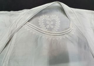 Angarkha(Coat)fine Muslin Cotton with Applied work,From Uttar Pradesh. North-India. India.C.1900.Worn by Royal Nawab Muslims Family Of Lucknow(20200901_160157).