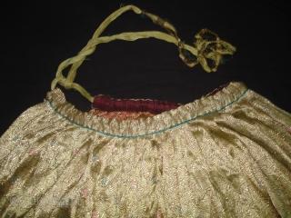 Ghaghra (Skirt) Zari (Real Zari) Brocade,Khinkhab from Jamnagar Gujarat, India. C.1900.Its size is 95cm Long  And 310 Around Circle(DSC04543 New).