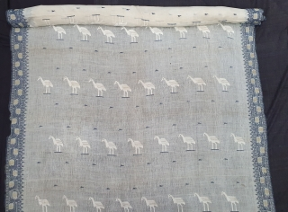 Figurative Rare Jamdani Finest Muslin Cotton Saree, In Figurative Style, From Dhaka District of Bangladesh. North-East India. India. Jamdani was originally known as Dhakai named after the city of Dhaka, Jamdani is  ...