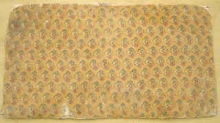 Sutra Book Cover(Cotton)Khadi Print.From Rajasthan India.Very Rare and Early Book cover.Its size is 14cm x 25cm(DSC07433 New).